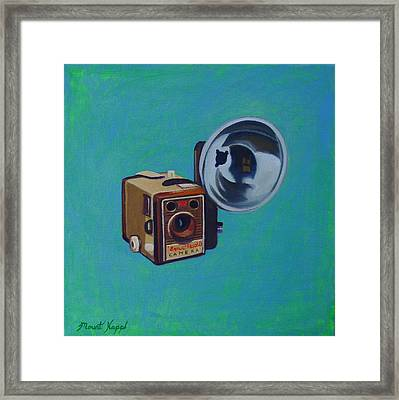 Brownie Box Camera Framed Print by The Vintage Painter