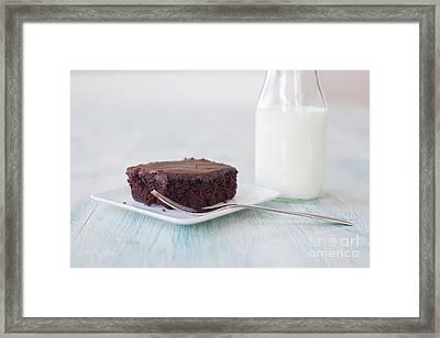 Brownies And Milk Framed Print by Kay Pickens