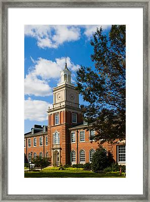 Browning Building At  A P S U Framed Print by Ed Gleichman