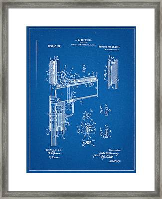 Browning Firearm Invention And Patent Framed Print by Decorative Arts