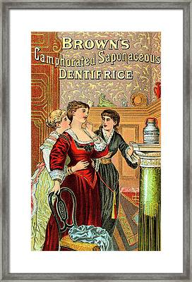 Brown's Dentifrice Framed Print by Universal History Archive/uig