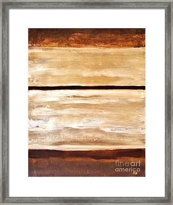 Browns Thru White Tones Framed Print by Marsha Heiken