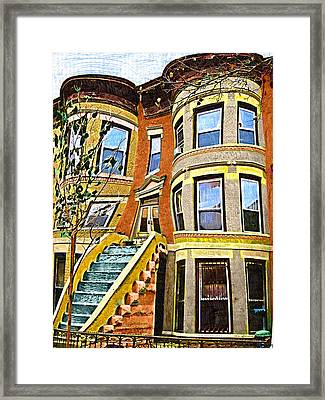 Brownstone Framed Print by Aleksander Rotner