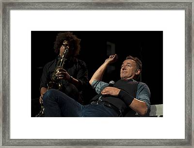 Bruce And Jake At Greasy Lake Framed Print