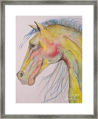 Framed Print featuring the painting Bruce by Jane Chesnut
