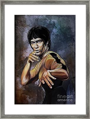 Bruce Lee  Framed Print by Andrzej Szczerski