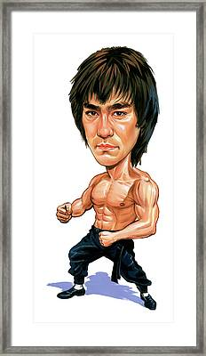 Bruce Lee Framed Print by Art