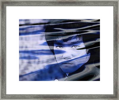 Bruce Lee Be Like Water Framed Print by Dan Sproul