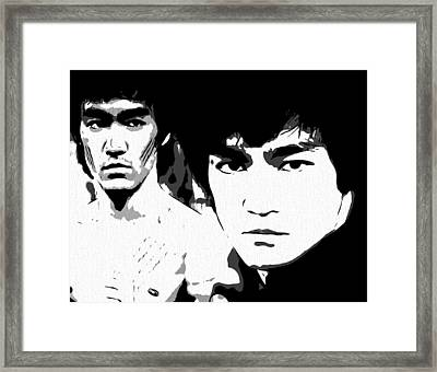 Bruce Lee  Framed Print by Dan Sproul