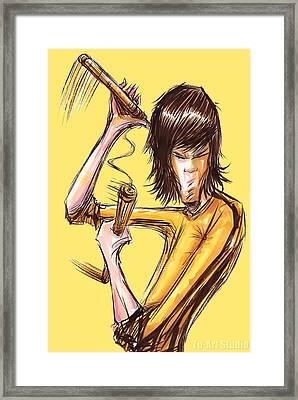 Bruce Lee II Framed Print