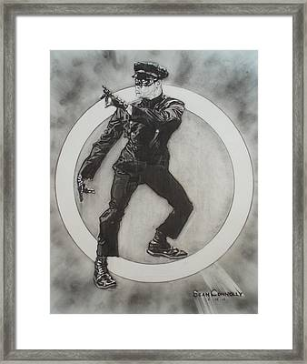 Bruce Lee Is Kato 3 Framed Print by Sean Connolly