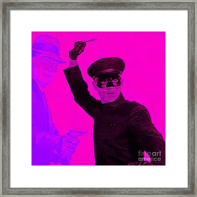 Bruce Lee Kato And The Green Hornet - Square M88 Framed Print