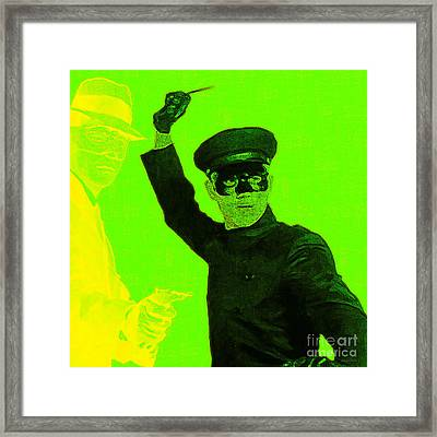 Bruce Lee Kato And The Green Hornet - Square P54 Framed Print by Wingsdomain Art and Photography