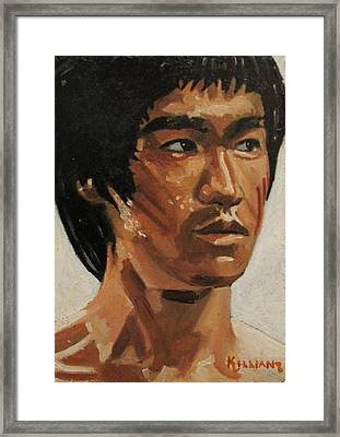 Bruce Lee Framed Print by Patrick Killian