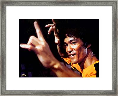 Bruce Lee Framed Print by Paul Tagliamonte