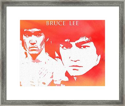 Bruce Lee Poster Framed Print by Dan Sproul