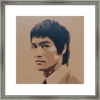 Bruce Lee Framed Print by Zelko Radic Bfvrp