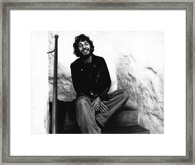 Bruce Springsteen 1975 Framed Print by Justin Clark