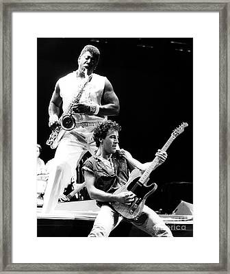 Bruce Springsteen 1985 11x14 Size Framed Print by Chris Walter