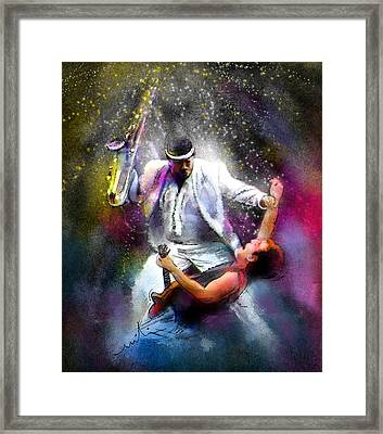 Bruce Springsteen And Clarence Clemons Framed Print