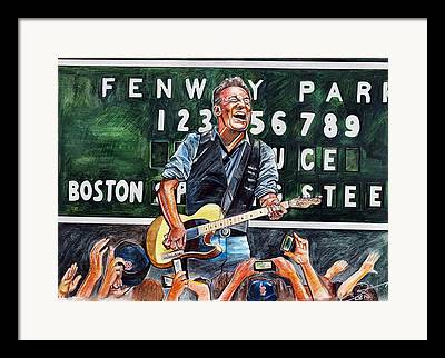 Fenway Park Drawings Framed Prints