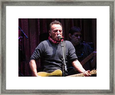 Bruce Springsteen At Light Of Day Framed Print by Melinda Saminski
