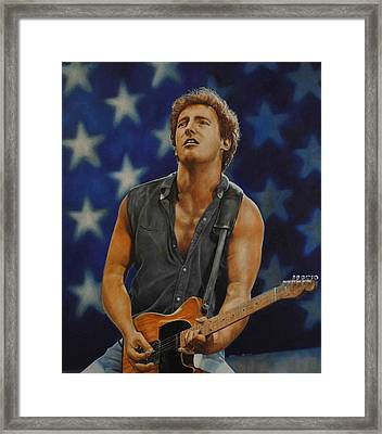 Bruce Springsteen 'born In The Usa' Framed Print by David Dunne