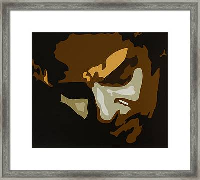 Bruce Springsteen Framed Print by Dennis Nadeau