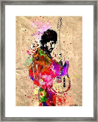 Bruce Springsteen Grunge Framed Print