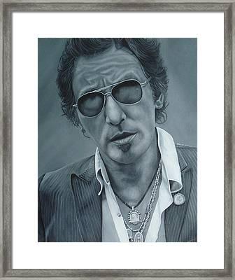 Bruce Springsteen IIi Framed Print by David Dunne