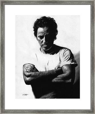 Bruce Springsteen  Framed Print by Justin Clark