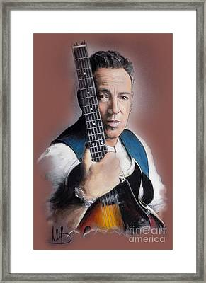 Bruce Springsteen Framed Print by Melanie D