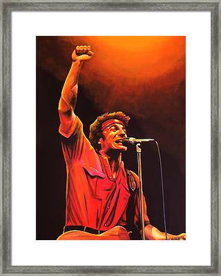 Bruce Springsteen Painting Framed Print by Paul Meijering