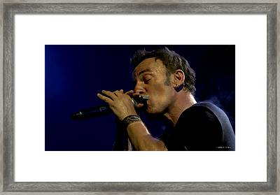 Bruce Springsteen Performing The River At Glastonbury In 2009 - 2 Framed Print