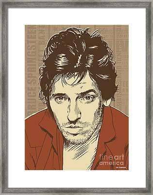 Bruce Springsteen Pop Art Framed Print by Jim Zahniser