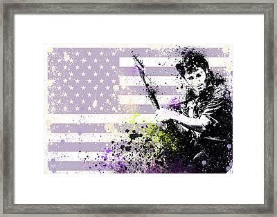 Bruce Springsteen Splats Framed Print