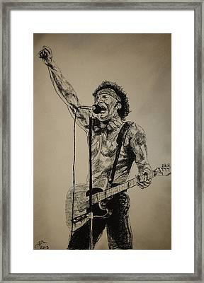 Bruce Springsteen Framed Print by Tim Brandt