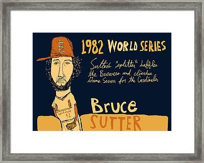 Bruce Sutter St Louis Cardinals Framed Print by Jay Perkins