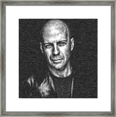 Bruce Willis Framed Print