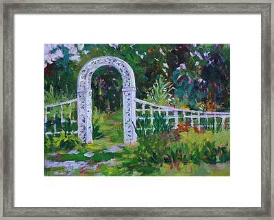 Brucemore Garden Gate Framed Print