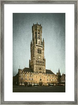 Bruges Belfort Framed Print by Joan Carroll