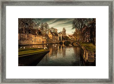 Bruges Canal Framed Print by Chris Fletcher