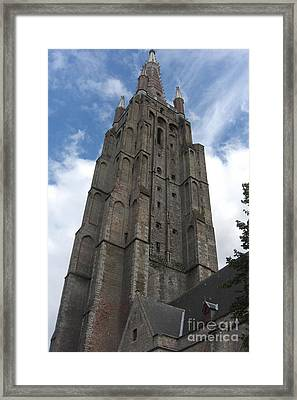 Framed Print featuring the photograph Bruges Church Of Our Lady by Deborah Smolinske