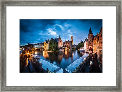 Bruges Night Framed Print