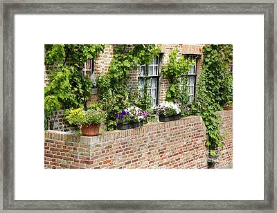 Brugge Balcony Framed Print by Carol Groenen