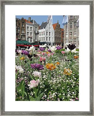 Framed Print featuring the photograph Brugge In Spring by Ausra Huntington nee Paulauskaite