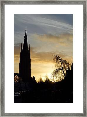 Brugges Sunset Framed Print by Stephen Richards