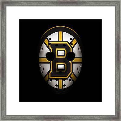Bruins Goalie Mask Framed Print by Joe Hamilton