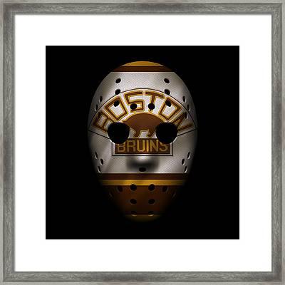 Bruins Jersey Mask Framed Print by Joe Hamilton