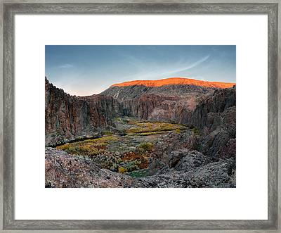 Bruneau River And Canyon Framed Print